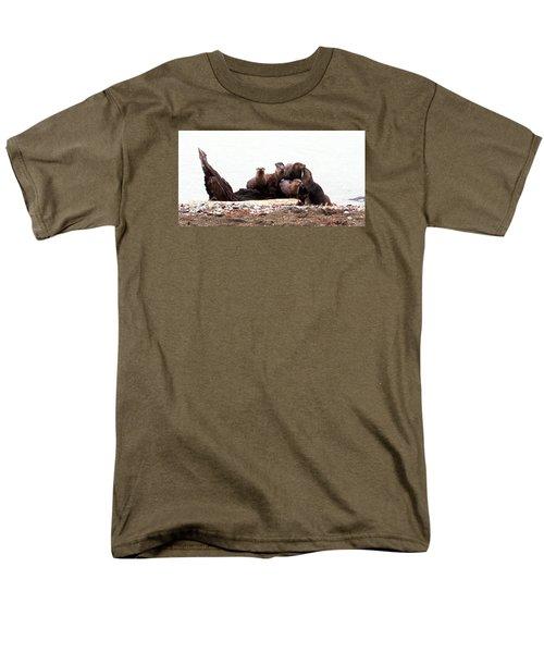 Otters In Boulevard Park Men's T-Shirt  (Regular Fit) by Karen Molenaar Terrell