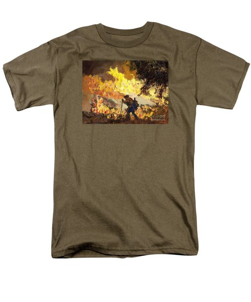 Our Heroes Tonight Men's T-Shirt  (Regular Fit) by Randy Sprout