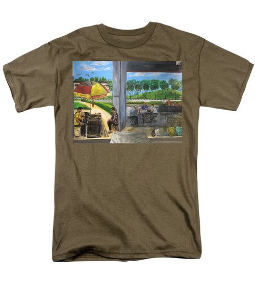 Our Home, Our Community Men's T-Shirt  (Regular Fit) by Belinda Low