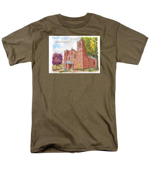 Our Lady Of Sorrow Catholic Church, Las Vegas, New Mexico Men's T-Shirt  (Regular Fit) by Carlos G Groppa