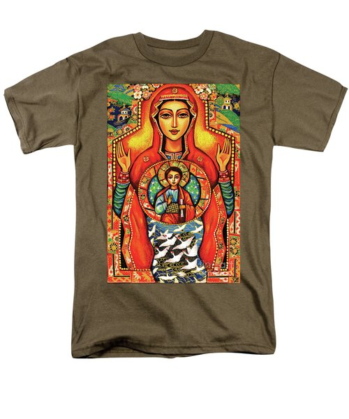 Men's T-Shirt  (Regular Fit) featuring the painting Our Lady Of The Sign by Eva Campbell