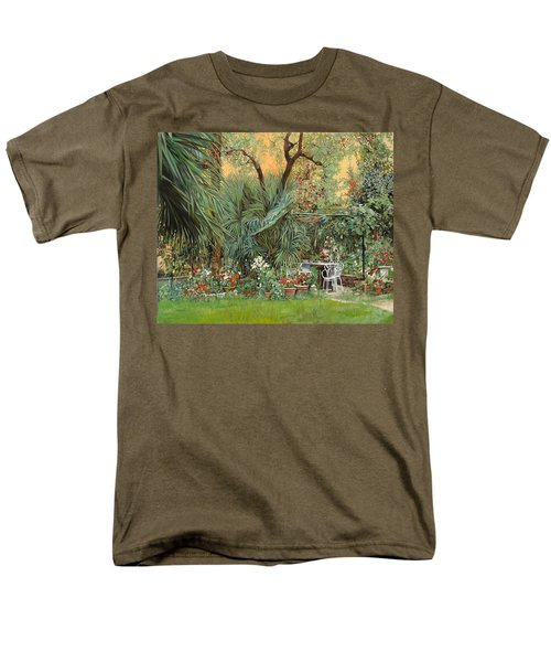 Our Little Garden Men's T-Shirt  (Regular Fit) by Guido Borelli