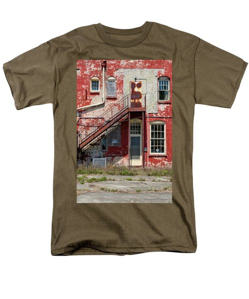 Men's T-Shirt  (Regular Fit) featuring the photograph Over Under The Stairs by Christopher Holmes