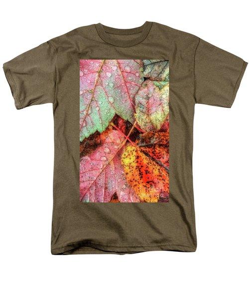 Overnight Rain Leaves Men's T-Shirt  (Regular Fit) by Todd Breitling