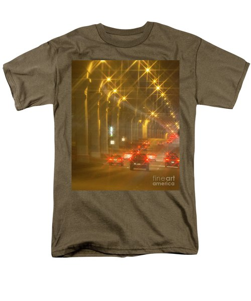 Men's T-Shirt  (Regular Fit) featuring the photograph Overpass Traffic by Linda Phelps