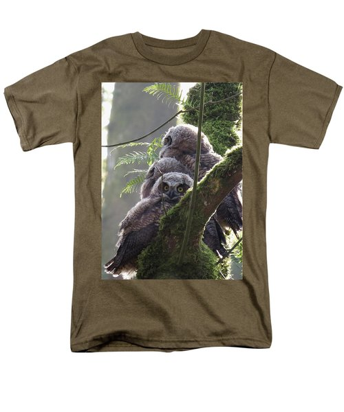 Owl Morning Men's T-Shirt  (Regular Fit) by I'ina Van Lawick