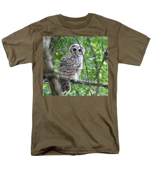 Men's T-Shirt  (Regular Fit) featuring the photograph Owl On A Limb by Donald C Morgan