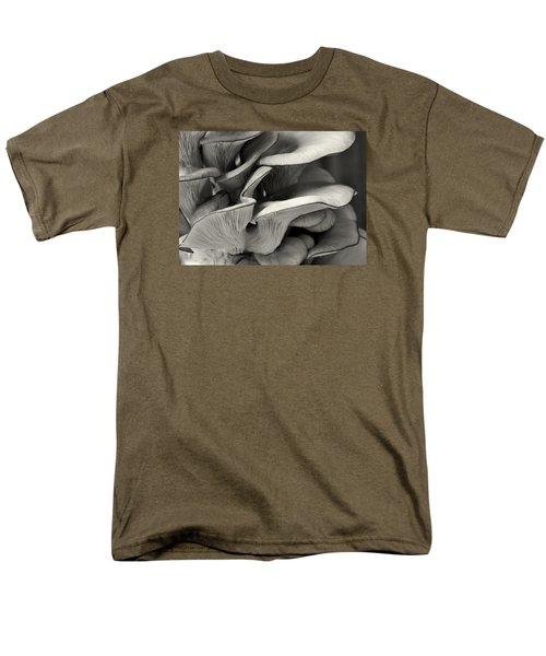 Oyster Mushroom Abstract Lv Men's T-Shirt  (Regular Fit) by Shirley Mitchell