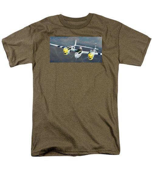 P-38 On The Prowl Men's T-Shirt  (Regular Fit) by Douglas Castleman