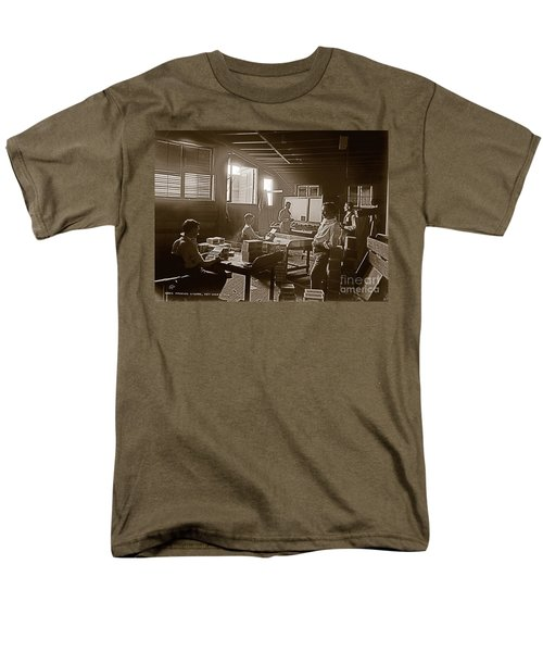 Men's T-Shirt  (Regular Fit) featuring the photograph Packing Cigars Key West Florida by John Stephens