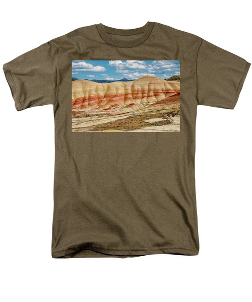 Men's T-Shirt  (Regular Fit) featuring the photograph Painted Hills And Afternoon Sky by Greg Nyquist