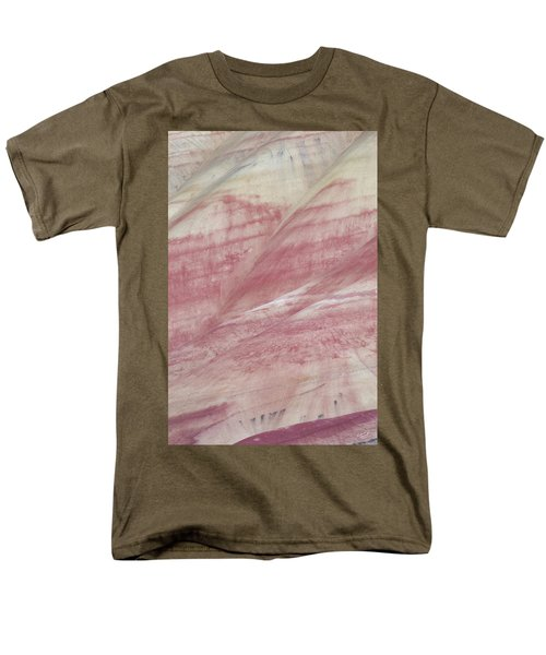 Men's T-Shirt  (Regular Fit) featuring the photograph Painted Hills Textures 1 by Leland D Howard