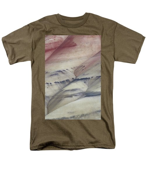 Men's T-Shirt  (Regular Fit) featuring the photograph Painted Hills Textures 2 by Leland D Howard