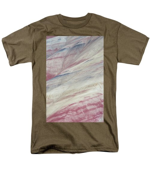 Men's T-Shirt  (Regular Fit) featuring the photograph Painted Hills Textures 3 by Leland D Howard