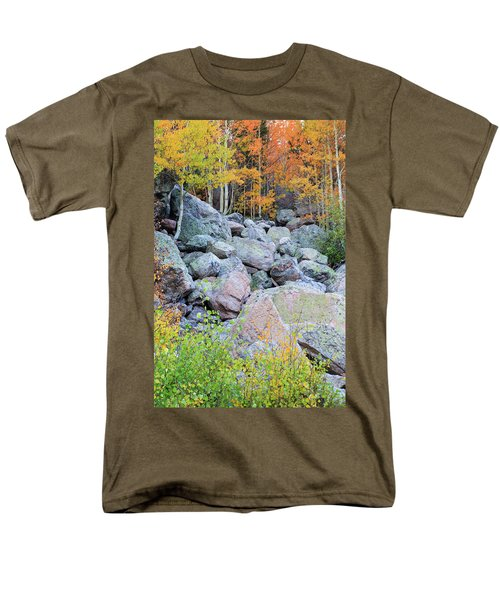 Painted Rocks Men's T-Shirt  (Regular Fit) by David Chandler