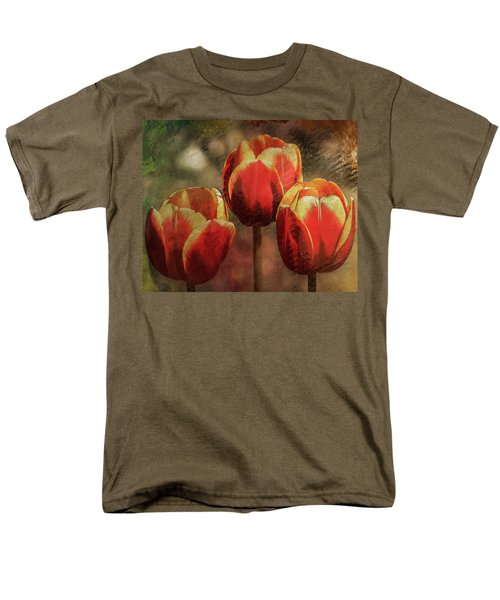 Painted Tulips Men's T-Shirt  (Regular Fit)
