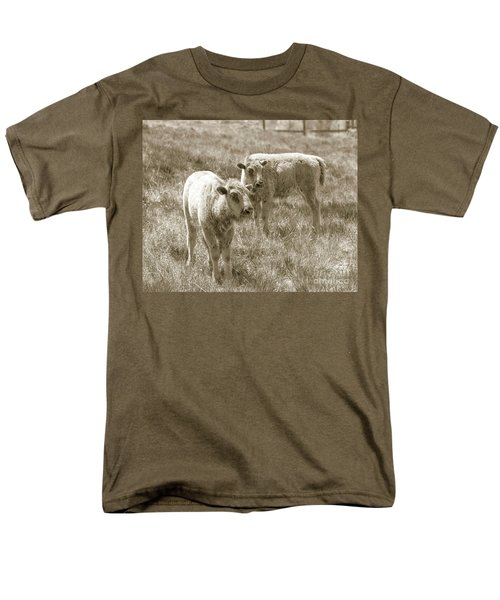 Men's T-Shirt  (Regular Fit) featuring the photograph Pair Of Baby Buffalos by Rebecca Margraf