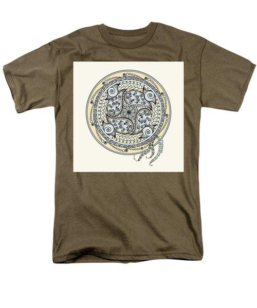Paisley Balance Mandala Men's T-Shirt  (Regular Fit) by Deborah Smith