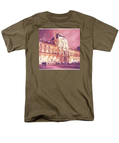 Palais Du Louvre En Rose Men's T-Shirt  (Regular Fit) by Aurella FollowMyFrench
