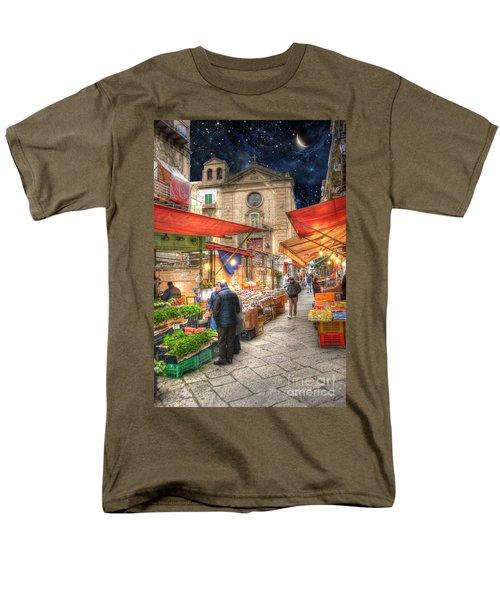 Palermo Market Place Men's T-Shirt  (Regular Fit) by Juli Scalzi