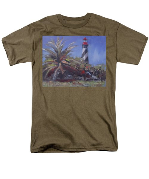 Palm By The Lighthouse Men's T-Shirt  (Regular Fit) by Mary Hubley