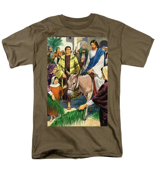 Palm Sunday Men's T-Shirt  (Regular Fit) by Clive Uptton