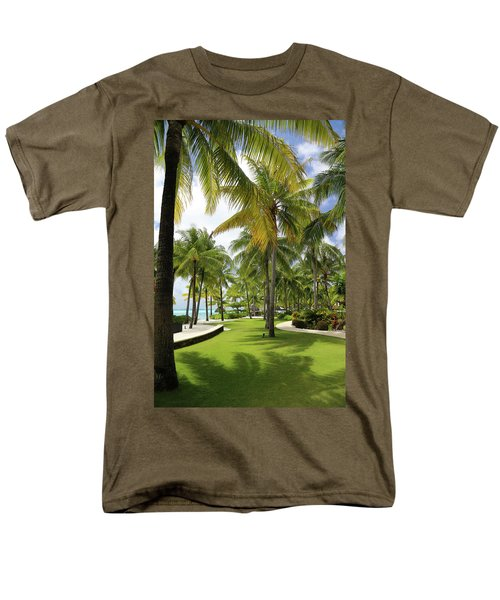 Men's T-Shirt  (Regular Fit) featuring the photograph Palm Trees 2 by Sharon Jones