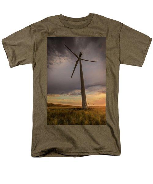 Palouse Windmill At Sunrise Men's T-Shirt  (Regular Fit) by Chris McKenna