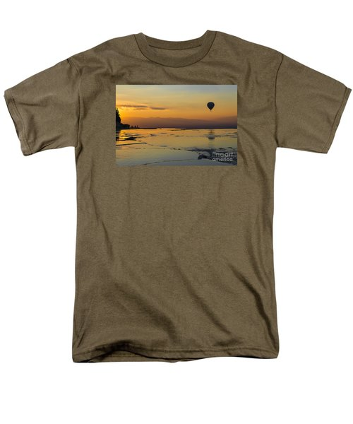 Men's T-Shirt  (Regular Fit) featuring the photograph Pammukale Sunset by Yuri Santin
