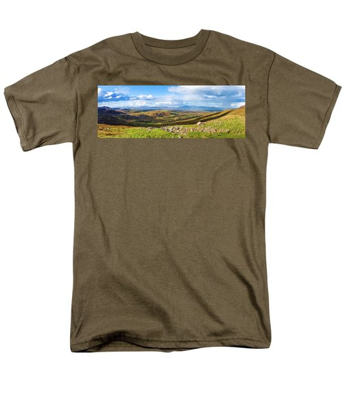 Men's T-Shirt  (Regular Fit) featuring the photograph Panorama Of A Colourful Undulating Irish Landscape In Kerry by Semmick Photo