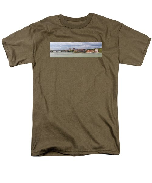 Men's T-Shirt  (Regular Fit) featuring the photograph Panorama Of The Hydroelectric Power Station In Toulouse by Semmick Photo