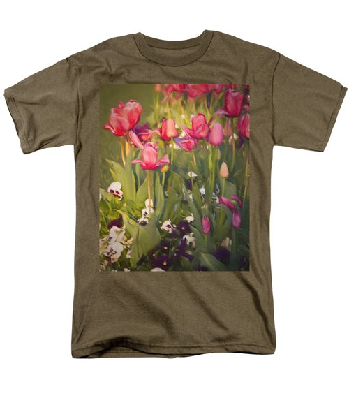 Pansies And Tulips Men's T-Shirt  (Regular Fit) by Lana Trussell
