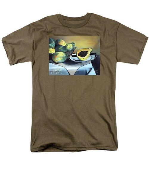 Papaya Still Life Men's T-Shirt  (Regular Fit) by Francine Heykoop