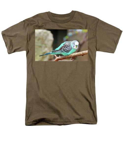 Parakeet  Men's T-Shirt  (Regular Fit) by Inspirational Photo Creations Audrey Woods
