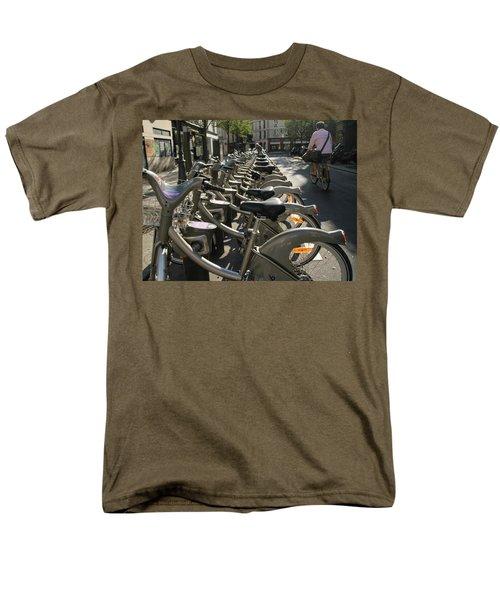 Men's T-Shirt  (Regular Fit) featuring the photograph Paris By Bike by Yoel Koskas