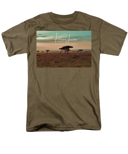 Men's T-Shirt  (Regular Fit) featuring the photograph Pastel Dawn On The Mara by Karen Lewis