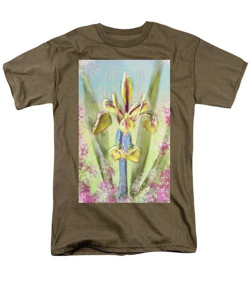 Pastel Iris Men's T-Shirt  (Regular Fit) by Lois Bryan