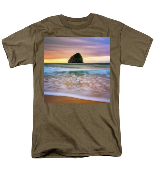 Men's T-Shirt  (Regular Fit) featuring the photograph Pastel Morning At Kiwanda by Darren White