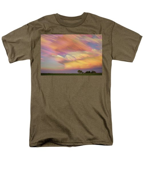 Men's T-Shirt  (Regular Fit) featuring the photograph Pastel Painted Big Country Sky by James BO Insogna