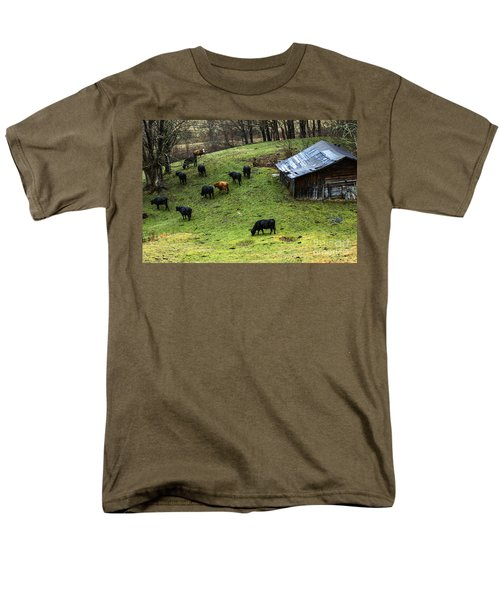Pasture Field And Cattle Men's T-Shirt  (Regular Fit) by Thomas R Fletcher