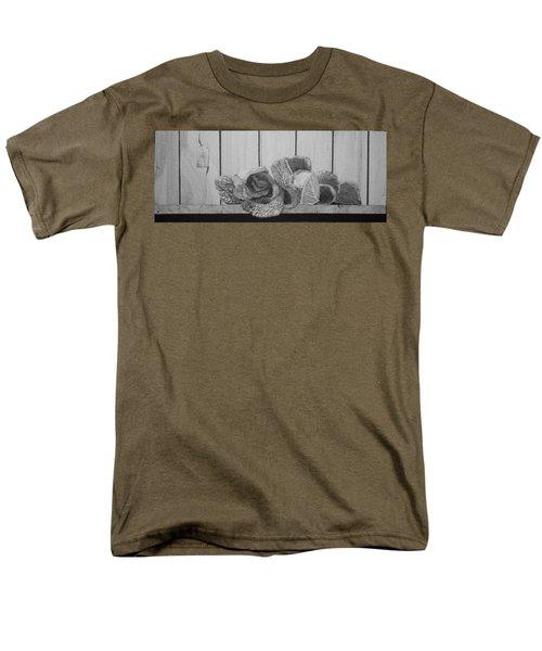 Patch Work Men's T-Shirt  (Regular Fit)