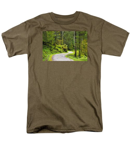 Men's T-Shirt  (Regular Fit) featuring the photograph Path In The Forest by Yuri Santin