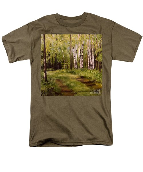 Path To The Birches Men's T-Shirt  (Regular Fit) by Laurie Rohner