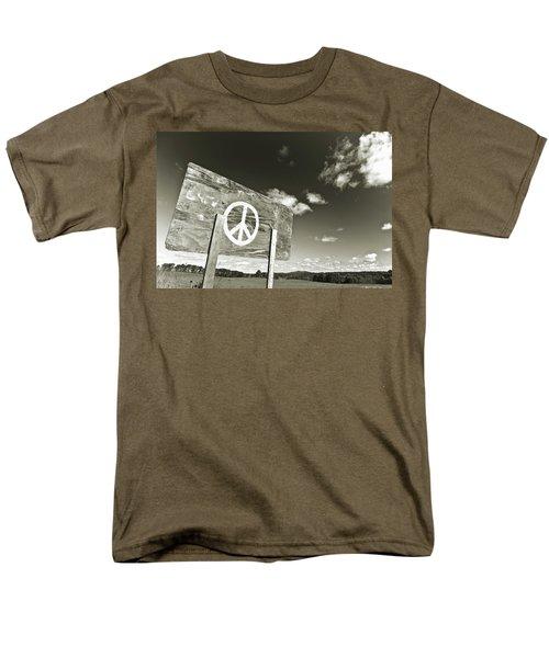 Peace Sepia Men's T-Shirt  (Regular Fit)