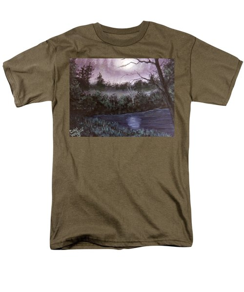 Men's T-Shirt  (Regular Fit) featuring the painting Peaceful Pond by Dan Wagner