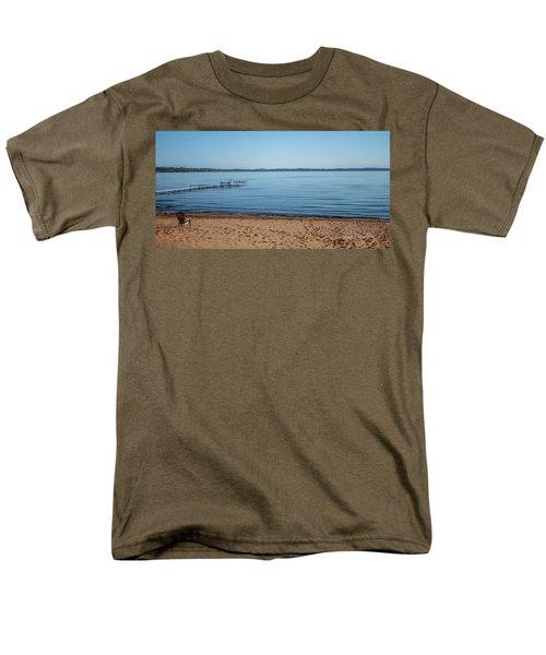 Men's T-Shirt  (Regular Fit) featuring the photograph Grand Traverse Bay Beach-michigan  by Joann Copeland-Paul