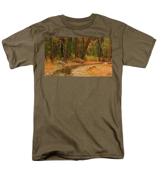 Men's T-Shirt  (Regular Fit) featuring the photograph Peaceful Stream by Roena King