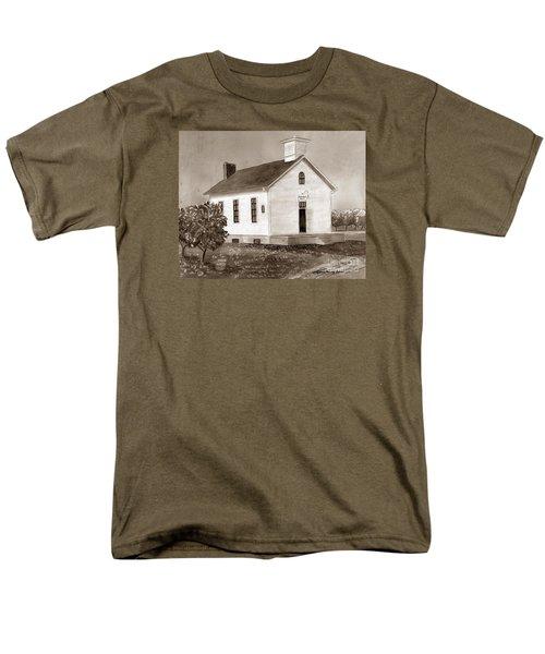 Peach Grove School Sepia Men's T-Shirt  (Regular Fit) by LeAnne Sowa