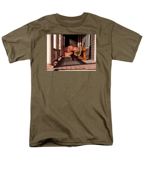 Men's T-Shirt  (Regular Fit) featuring the photograph Peach Porch by Betsy Zimmerli