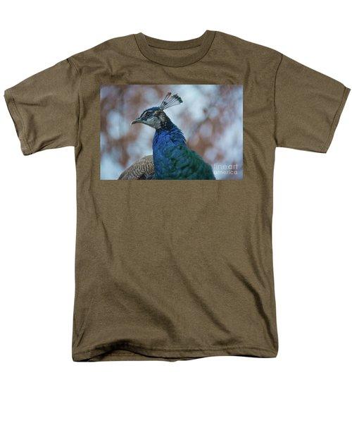 Men's T-Shirt  (Regular Fit) featuring the photograph Peacock by Lisa L Silva